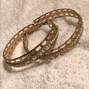 USED Cute Medium chain Inspired crystal earrings